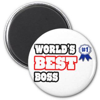 Der beste Chef der Welt Runder Magnet 5,7 Cm