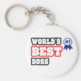 Der beste Chef der Welt Standard Runder Schlüsselanhänger