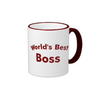 Der beste Chef der Welt Ringer Tasse
