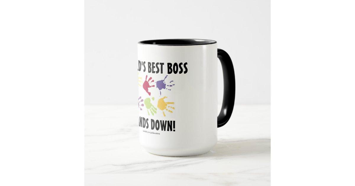 der beste chef der welt bergibt unten tasse zazzle. Black Bedroom Furniture Sets. Home Design Ideas
