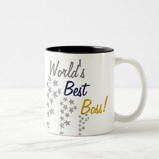 Der beste Chef der Welt Zweifarbige Tasse
