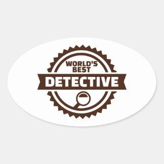 Der beste Detektiv der Welt Ovaler Aufkleber