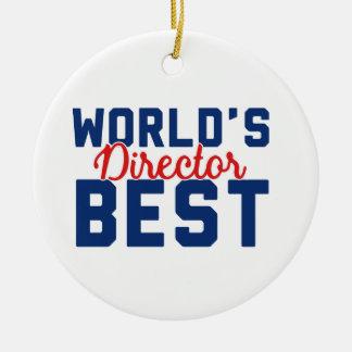 Der beste Direktor der Welt Rundes Keramik Ornament