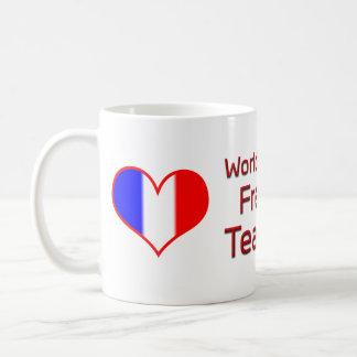 Der beste französische Lehrer der Welt mit Kaffeetasse