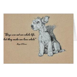 Der beste Freund des Mannes - Hundezitat Karte