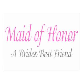 Der beste Freund einer Braut Postkarte