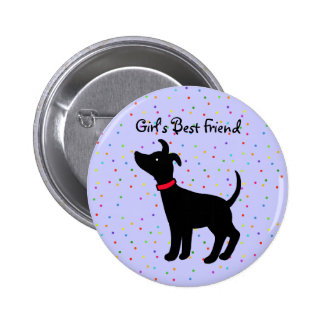 Der beste Freund-italienischer Windhund-Hundeknopf Runder Button 5,7 Cm