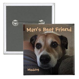 Der beste Freund-Knopf des Mannes Anstecknadelbutton