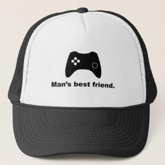Der beste Freundlustiger Gamer-Maschen-Hut des Truckerkappe