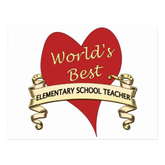 Der beste grundlegende Schullehrer der Welt Postkarte