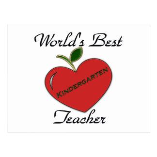 Der beste Kindergarten Teache der Welt Postkarte