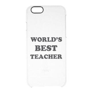 Der beste Lehrer der Welt Durchsichtige iPhone 6/6S Hülle