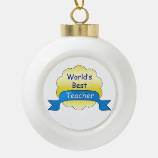 Der beste Lehrer der Welt Keramik Kugel-Ornament