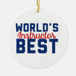 Der beste Lehrer der Welt Keramik Ornament