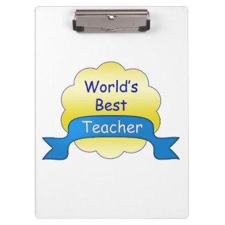 Der beste Lehrer der Welt Klemmbrett
