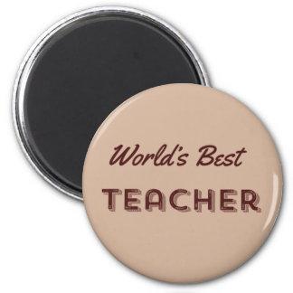 Der beste Lehrer der Welt Runder Magnet 5,7 Cm