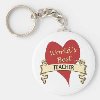 Der beste Lehrer der Welt Standard Runder Schlüsselanhänger