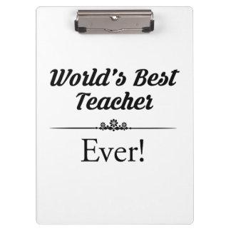 Der beste Lehrer der Welt überhaupt Klemmbrett