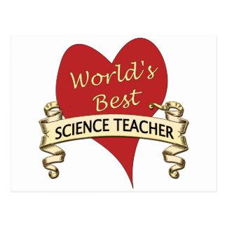 Der beste Lehrer für Wissenschaft der Welt Postkarte