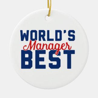 Der beste Manager der Welt Rundes Keramik Ornament