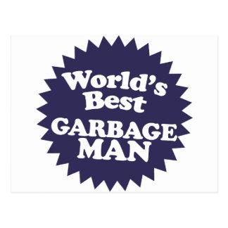 Der beste Müllmann der Welt Postkarte