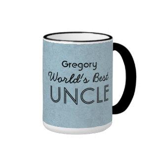 Der beste ONKEL blauer Grunge der Welt individuell Tasse
