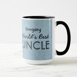 Der beste ONKEL blauer Grunge der Welt Tasse