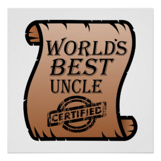 Der beste Onkel Certified Certificate Funny der Poster