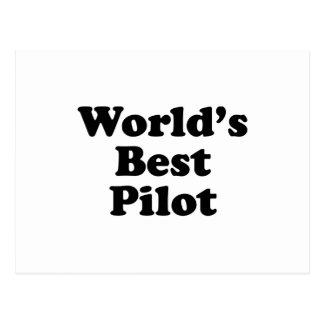 Der beste Pilot der Welt Postkarte