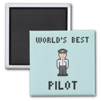 Der beste Pilot der Welt Quadratischer Magnet