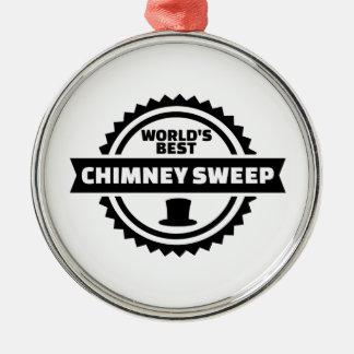 Der beste Schornsteinfeger der Welt Rundes Silberfarbenes Ornament