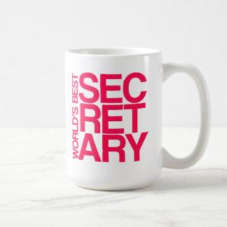 Der beste Sekretär Coffee Mug der Welt Kaffeetasse