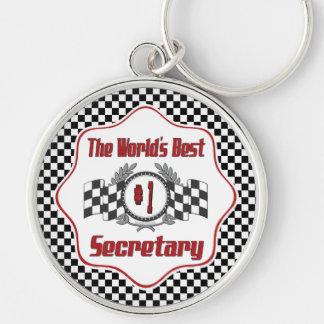Der beste Sekretär der Welt der Zahl-eine Schlüsselanhänger
