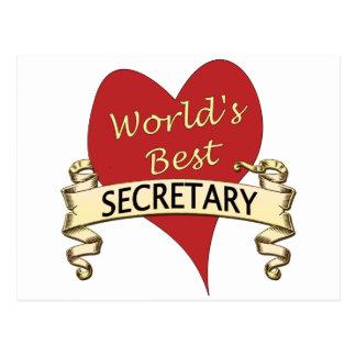 Der beste Sekretär der Welt Postkarte