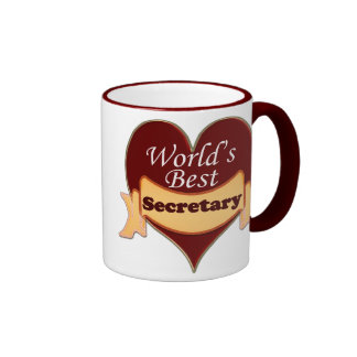 Der beste Sekretär der Welt Ringer Tasse