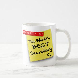 Der beste Sekretär Post der Welt Kaffee Tasse