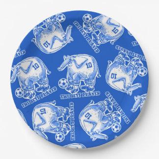 der beste Spielerelefant-Cartoon Pappteller
