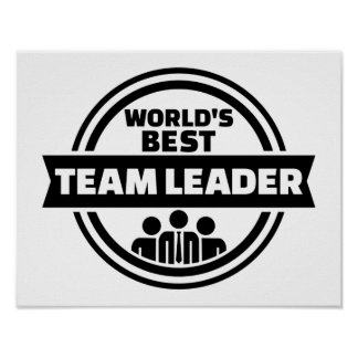 Der beste Teamleiter der Welt Poster