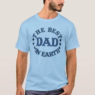 Der beste Vati auf Erdblau-Shirt T-Shirt