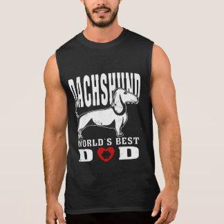 Der beste Vati der Dackel-Welt Ärmelloses Shirt