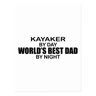 Der beste Vati der Kayaker-Welt bis zum Nacht Postkarte