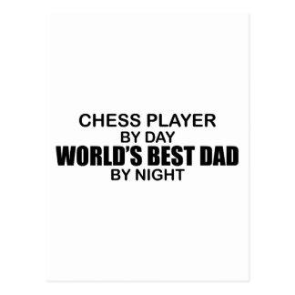 Der beste Vati der Schach-Spieler-Welt bis zum Postkarte