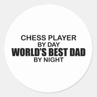 Der beste Vati der Schach-Spieler-Welt bis zum Runder Aufkleber