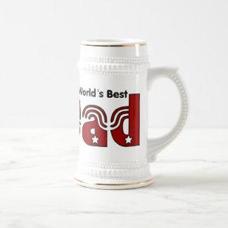 Der beste Vati Stein der Welt Bierglas