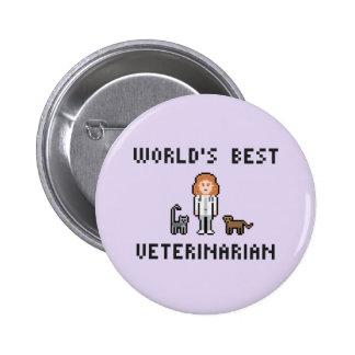 Der beste weibliche tierärztliche Knopf der Runder Button 5,7 Cm