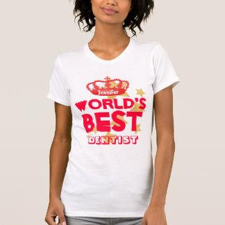 Der beste ZAHNARZT der Welt rote Krone und Sterne T-Shirt