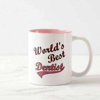 Der beste Zahnarzt der Welt Zweifarbige Tasse