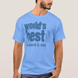 Der bester Ehemann und Vati X10 der Welt T-Shirt