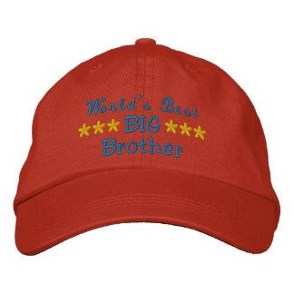 Der bester große Bruder oder Schwester oder Vati Bestickte Baseballkappe