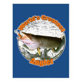 Der bestste Angler der Welt Postkarte